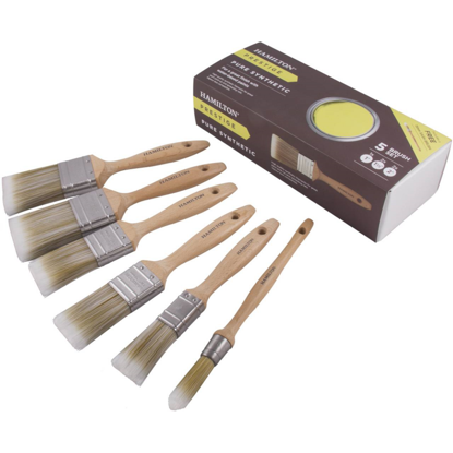 Picture of Hamilton Prestige 5 Piece Synthetic Brush Set With Free Sash
